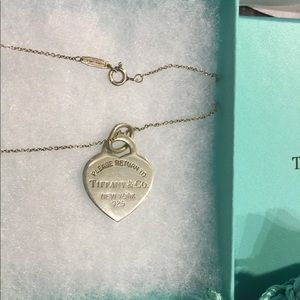 Authentic Return to Tiffany heart tag necklace